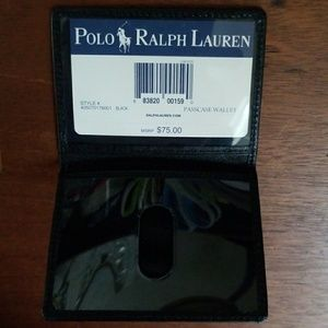 Leather Ralph Lauren passcase wallet